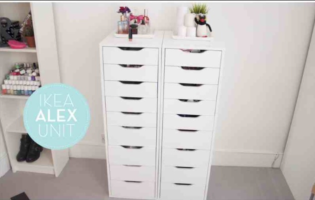 Makeup storage ideas beauty by copperstar Makeup drawer organizer ikea